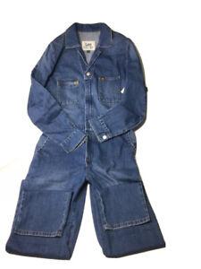 NEW Lee Vintage Modern Union-Alls Denim Coveralls Jumpsuit Jeans SZ  XSMALL Fade