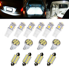 14x 6000K Led Interior Lights Bulbs Kit Dome License Plate Lamps Car Accessories