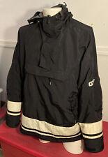 American Eagle AE Mens Pullover Sweatshirt Performance Half Zip Fleece L Black