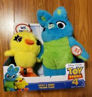 Toy Story 4 Ducky & Bunny 9-Inch Talking Plush. Brand New!
