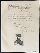 1926 - Lithographie citation Généraux Coanda, Holban, Iliesco