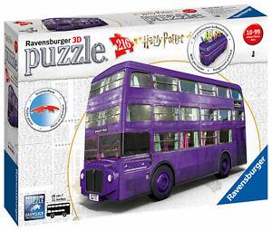 RAVENSBURGER. 3D PUZZLE. Harry Potter Knight Bus. 216 PCS. NR. 11158 NEW