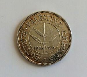 🇵🇸  British Palestine 50 Mils 1935 - silver coin - British Mandate (1920-1948)