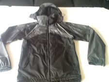 PETER STORM-ALL WEATHER/ACTIVITY JACKET-HOOD-SIZE XS= 34-36in-BLACK/GREY-VGC