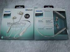 Philips Bluetooth Wireless MetalixPro Neckband In-Ear Headphone Mic SHB5950 WH