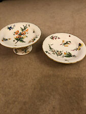 Pair Of Vintage China Matching Cake Stands