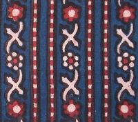2½ Yards. Tribal, Hand Block Print Cotton. Natural Dyes, Indigo. India Fabric