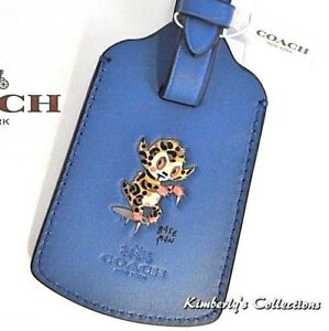COACH Buster Luggage Bag ID Tag for Backpack, School, Travel NWT