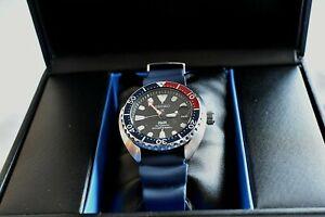 Seiko SRPC41K1 Special Edition PADI Mini Turtle dive watch with ZULUDIVER strap