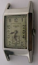 Tavannes 334 rectangle watch in its stainless case ... brevet patented ...