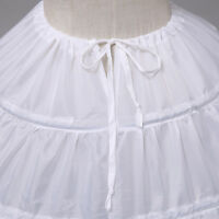 Vintage White Long 6 Hoop Petticoat Extra Full Wedding Ball Gown Crinoline