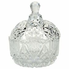 Crystal Bowl with Lid Candy Jar Sugar Bowl Glass Candy Box