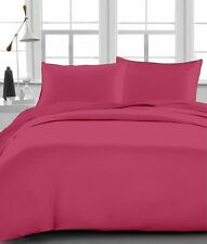 Queen Size Bed Sheet set Hot Pink Solid 1000TC Egyptian Cotton