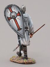 THOMAS GUNN MEDIEVAL KNIGHT MED005A CRUSADER WITH SPEAR DOWN WHITE SHIELD MIB