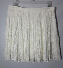 Women's ALLEN B. by Allen Schwartz Ivory Lace Skirt Size 8