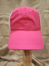 Premium WOMEN'S HOT PINK Ball Cap WHITE MESH~One Size~Snap Adj~Curved Bill~NEW