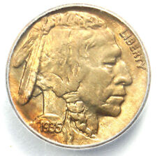 1935 Buffalo Nickel 5C Coin - Certified ICG MS67 (Gem BU) - $910 Guide Value!