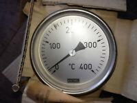 Kachel Bimetall Zeigerthermometer Ø10cm Thermometer Luftmessung 0-400°C NEU TL10