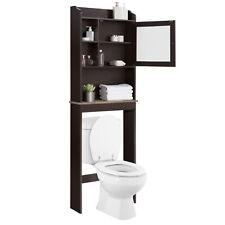 Bathroom Over The Toilet Space Saver Storage Cabinet Shelf Organizer Glass Door