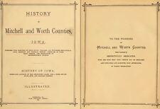 1884 MITCHELL & WORTH County Iowa IA, History and Genealogy Ancestry DVD B38