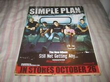Simple Plan-(still not getting any)-1 Static Sticker-11X14 Inches-Rare!