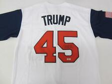 Rare Donald Trump Signed Autographed Baseball Jersey with Coa