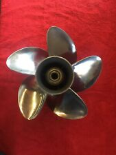 5 BLADE EVINRUDE  13 3/4 X 13  STAINLESS STEEL PROPELLER,