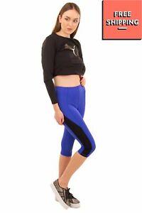 PURITY ACTIVE Capri Leggings Size XS Quick Dry Two Tone Elasticated Waist