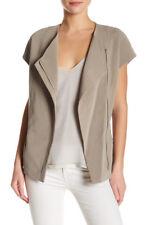 VINCE Dune Beige Short Sleeve Asymmetrical Jacket Size S