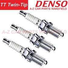 B1622KH16TT For Toyota Yaris Vitz 1.0 VVT-i Denso TT Twin Tip Spark Plugs X 3