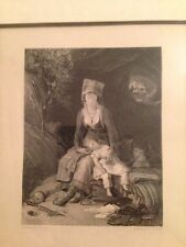 C.Rolle Signed Beautiful Engraving from 1800-1899 3x6 framed  limited edition