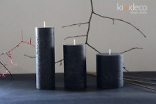 Handmade Rustic Pillar Candles Set (Black Magic) High quality. Hot cast. Colored