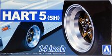 "Aoshima 1/24 Hart 5 (5H) 14""  Wheel Rims & Tire Set for Models 5436 (65)"