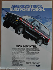 1982 FORD Bronco advertisement, Ford BRONCO on snow, mountains