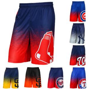 MLB Baseball Mens Team Logo Gradient Polyester Training Shorts - Pick Team