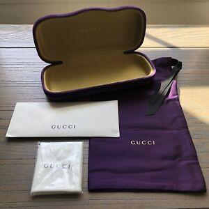 GUCCI ~NEW ~Purple Velvet Medium Sunglass Case, Pouch &  Cloth~ Authentic