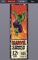 Topps Marvel Collect Digital Corner Boxes Wave 2 Hulk /563