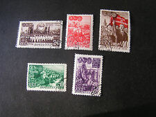 *RUSSIA, SCOTT # 1289-1292(4)+1294, TOTAL 5 1948 YOUNG COMMUNIST LEAGUE USED