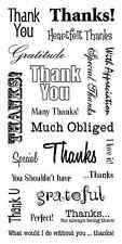 Inkadinkado Clear Stamps - Thank You Words, Thankyou, Thanks