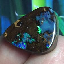 27ct Solid Australian Boulder Opal Stone PRETTY Opal Crystal Fire ~ Zen Opals
