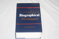 Chambers Biographical Dictionary Edited by Magnus Magnusson 1993 Hardcover