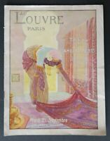 Catalogue 1920 AU LOUVRE PARIS tapis ameublement orientalisme ORIENTALISM