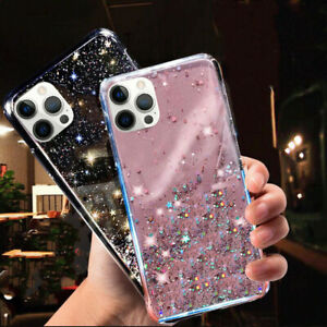 GLITTER STARS CASE For iPhone 11,XR,12,Pro Max,7,8 Plus,XS SE BLING Phone Cover