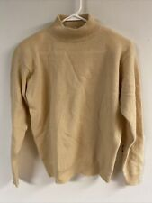 Calvin Klein Vintage S Lambswool/Angora Cream Mock Turtle Neck Sweater