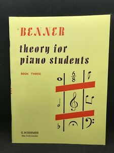 BENNER Theory for Piano Students Book 3 #2525
