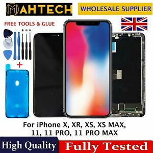 For iPhone X XS MAX XR 11 11Pro Max LCD Screen Replacement Digitiser 3D Touch UK