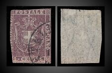 1860 TUSCANY - TOSKANA 1 C. RED LILAC , USED  , TWO MARGINS, SCT. 17a  MI.17