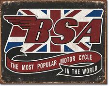BSA British Vintage Motorcycle Bike Oldtimer Motorrad Reproschild Poster *144