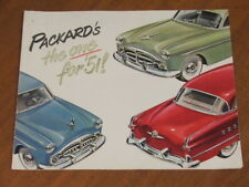 1951 Packard range original US large format 12 sided foldout brochure