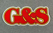"Gordon & Smith G&S LARGE Logo Skateboard Sticker - Red/Yellow7.5"" reissue"